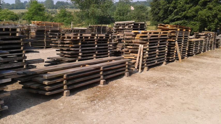 stock bois de la scierie
