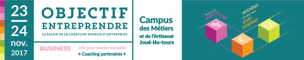 Salon Objectif Entreprendre (23 et 24 nov. 2017 - Indre-et-Loire)