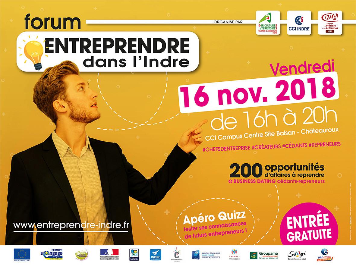 Business Dating cédants repreneurs ; Trouvez une bonne opportunité d'affaires (Châteauroux)