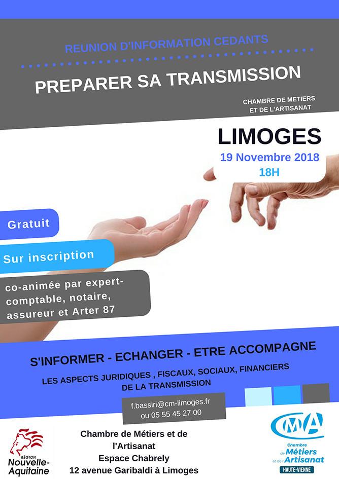 Préparez la transmission de votre entreprise (Limoges – 19/11/18)