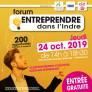 Forum Entreprendre dans l'Indre (24/10/19 - Châteauroux)